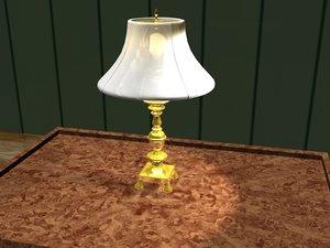 brass lamp bulb 3d model