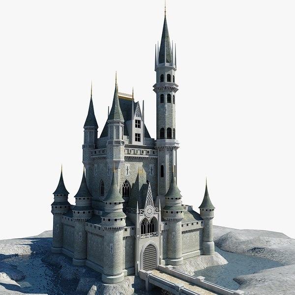 castle building architecture 3d model