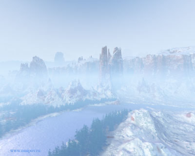 landscape mountain terrain 3d model