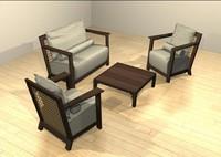 armchair sofa otto 3d max