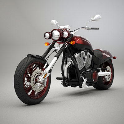 motorcycle moto classic 3d model