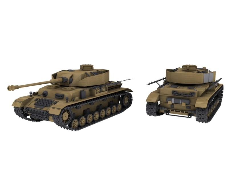 3ds max german panzer iv2