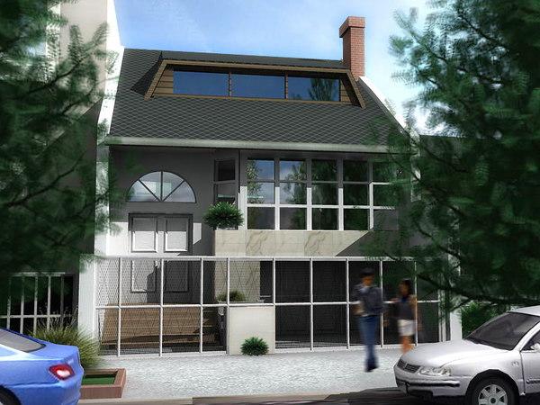 3d exterior house model