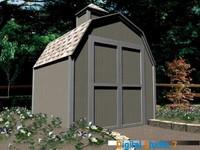 storage shed 3d model