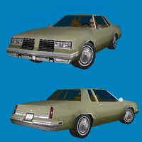 oldsmobile cutlass car 3d 3ds
