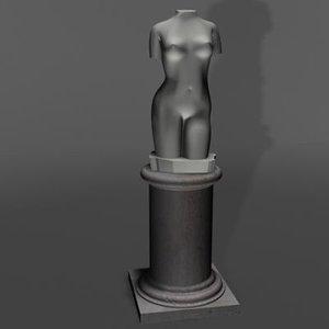 venus sculpture 3d model