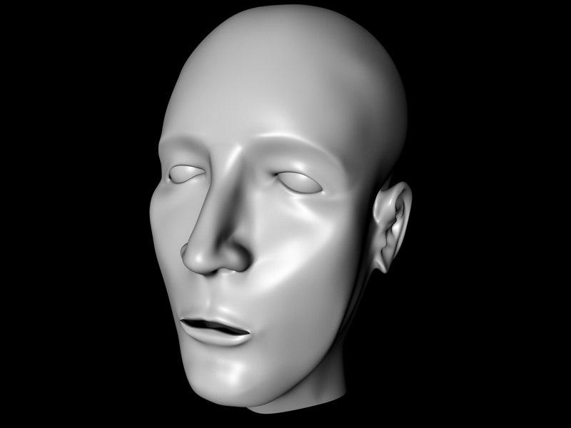 free man head 3d model
