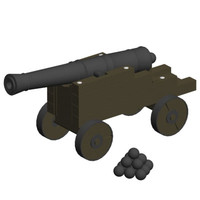 3d british cannons