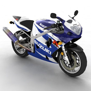 suzuki gsxr 750 motorcycle 3d model