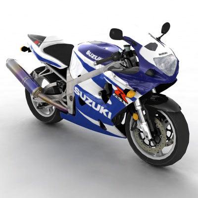 suzuki gsxr 750 motorcycle 3d model