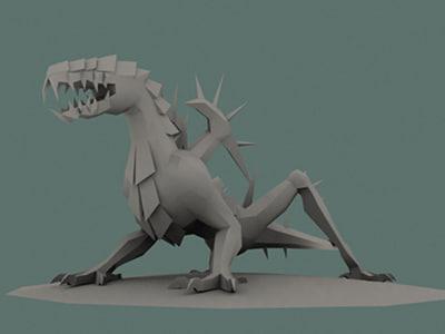 dragon iron 3d model