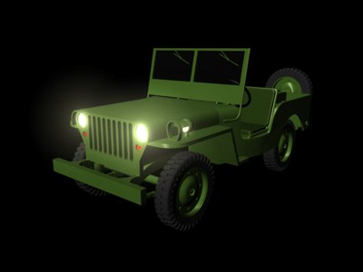 jeep vehicle 3d model