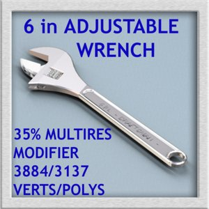 3d adjustable wrench model