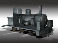 3d model narrow gauge steam engine