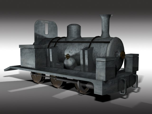 3d model narrow gauge steam engine