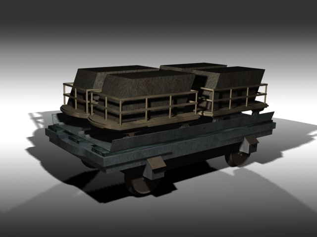 narrow gauge railway waggon 3d max