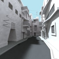 inner city streets buildings dxf