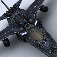 real-time sci-fi bomber 3d model