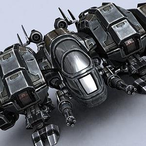 sci-fi dropship 3d model