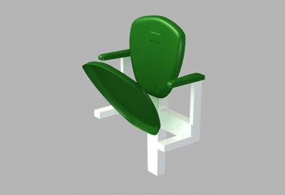 3d albany stadium seat model