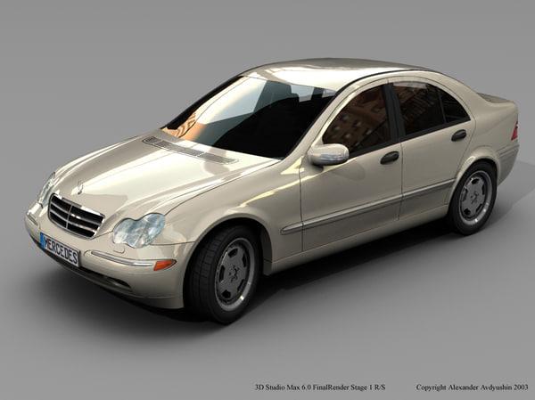 3d model mercedes c-class