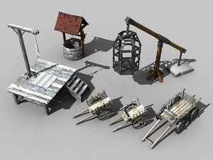 3d model medievil props