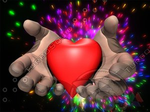 maya hands heart