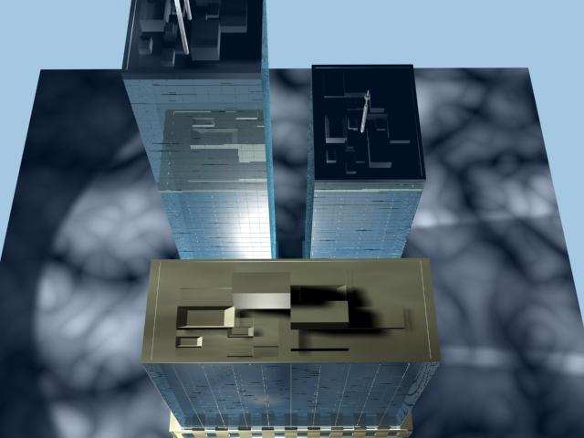 buildings city tower 3d max