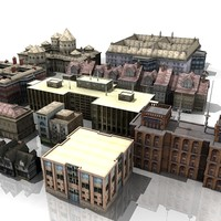 building house city 3d model