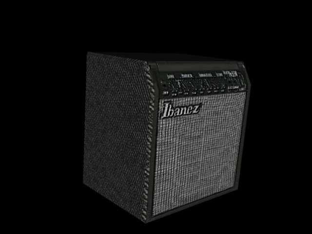 3d model of amplifiers amps