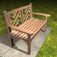max oak garden bench
