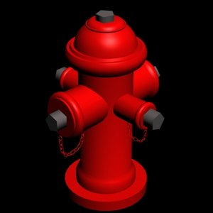 red hydrant 3d model
