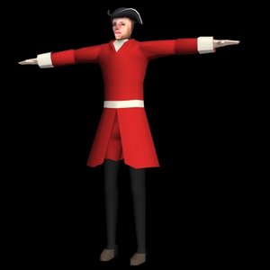 british soldier character 3d model