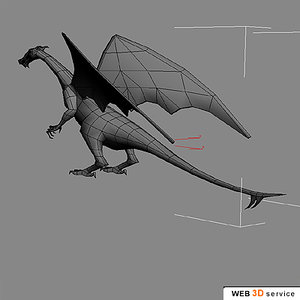 polygonal dragon 3d model