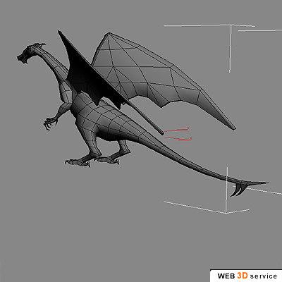 polygonal dragon 3d model