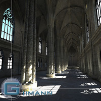 cathedral interior 3d model