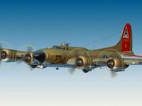 b-17 bomber plane 3d model