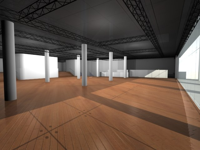 architectural space gallery 3d model