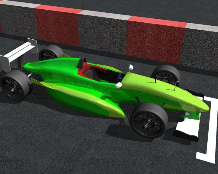 formula renault car modell 3d model