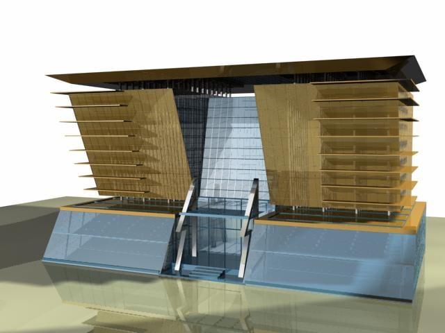 3ds max modern building uae dubai