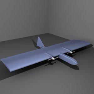 dragon eye uav spy plane 3d model