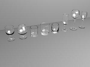 3d model drinks glasses spirits