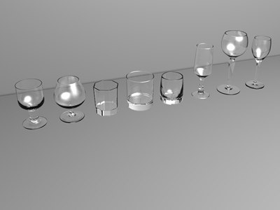 3d model drinks glasses spirits