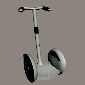 3d model segway human transport