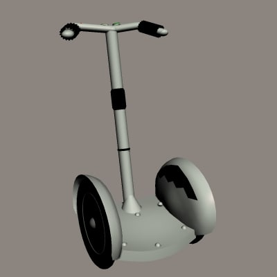 3d model segway human transport