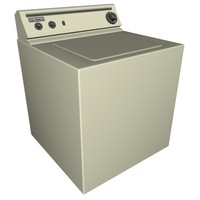 free washing machine 3d model