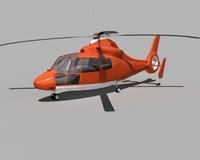 aerospatiale hh-65a dolphin helicopter 3d 3ds