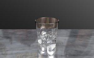 whisky glass 3d c4d