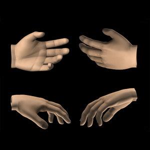 hands 3d x