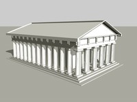 3d greek temple model